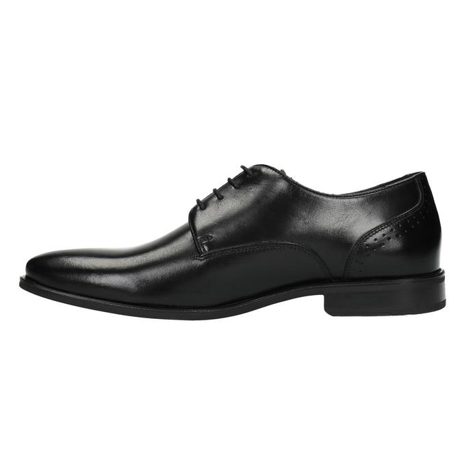 Półbuty męskie ze skóry bata, czarny, 824-6705 - 26