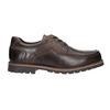 Nieformalne półbuty ze skóry bata, brązowy, 826-4640 - 26
