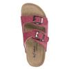 Dziecięce różowe pantofle de-fonseca, różowy, 373-5600 - 19