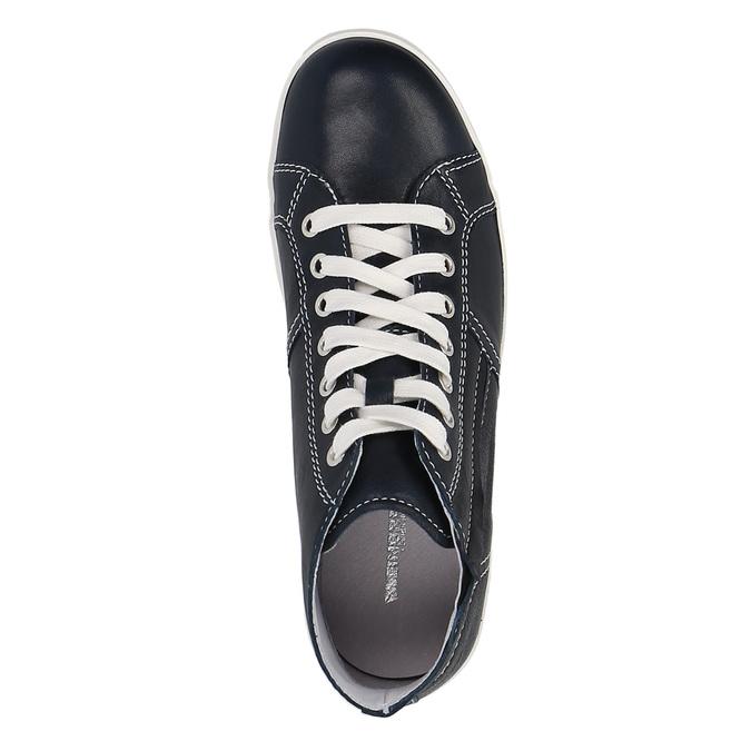 Skórzane buty sportowe do kostki weinbrenner, niebieski, 524-9310 - 19