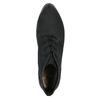 Skórzane buty do kostki na obcasie bata, czarny, 796-6602 - 19