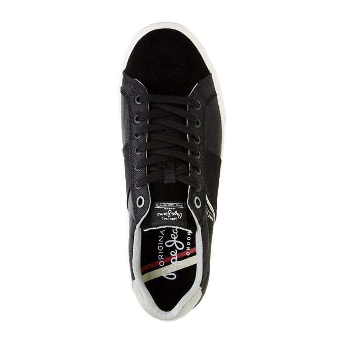Męskie tenisówki w czarnym kolorze pepe-jeans, czarny, 849-6008 - 19