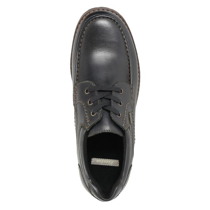 Skórzane półbuty z przeszyciami na nosku bata, brązowy, 826-6640 - 19