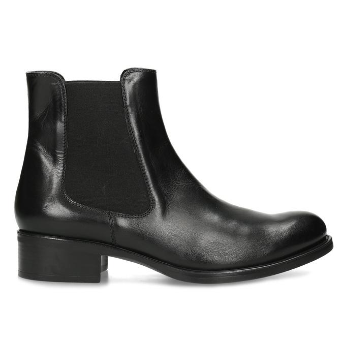 Skórzane obuwie damskie typu chelsea bata, czarny, 594-6448 - 19