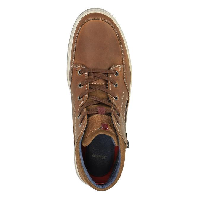 Trampki męskie za kostkę bata, brązowy, 826-3650 - 19
