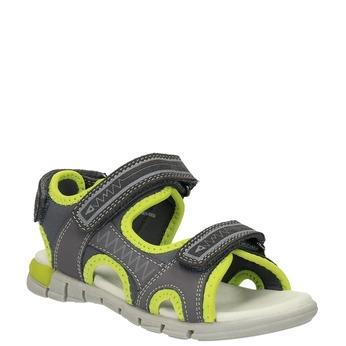Sandały dziecięce mini-b, szary, 363-2182 - 13