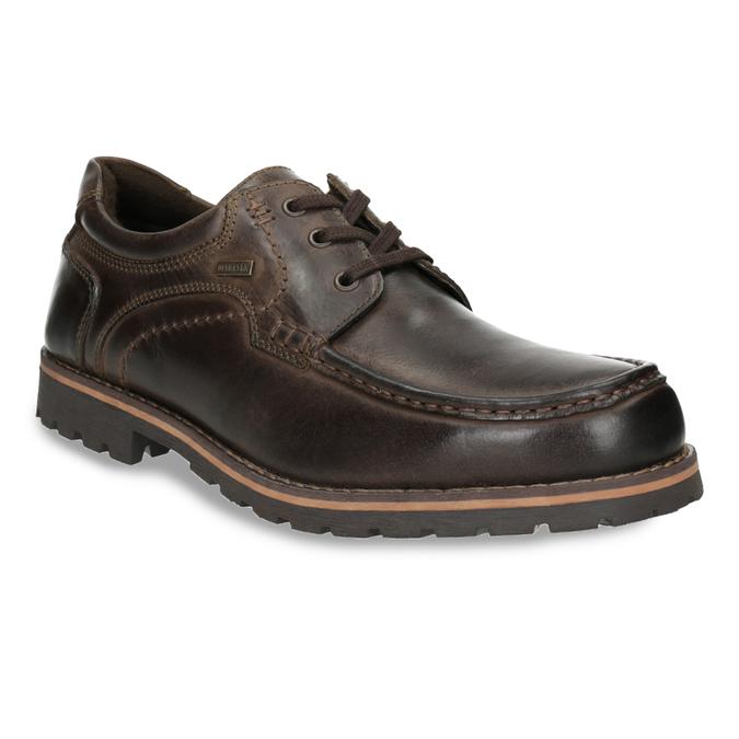 Nieformalne półbuty ze skóry bata, brązowy, 826-4640 - 13