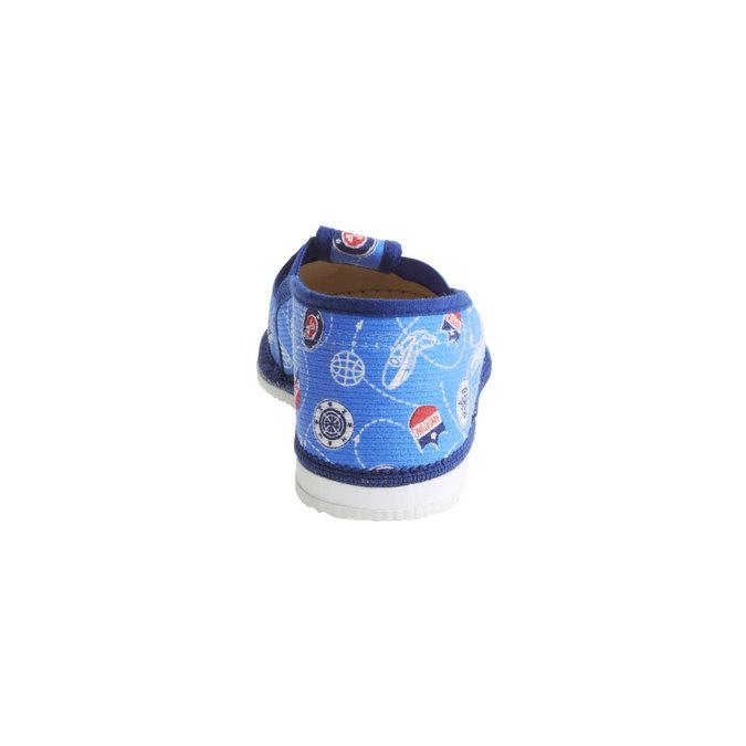 Pantofle dziecięce bata, niebieski, 179-0105 - 17