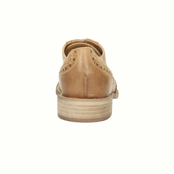 Skórzane buty Oxford ze zdobieniem typu Brogue bata, brązowy, 524-3482 - 17