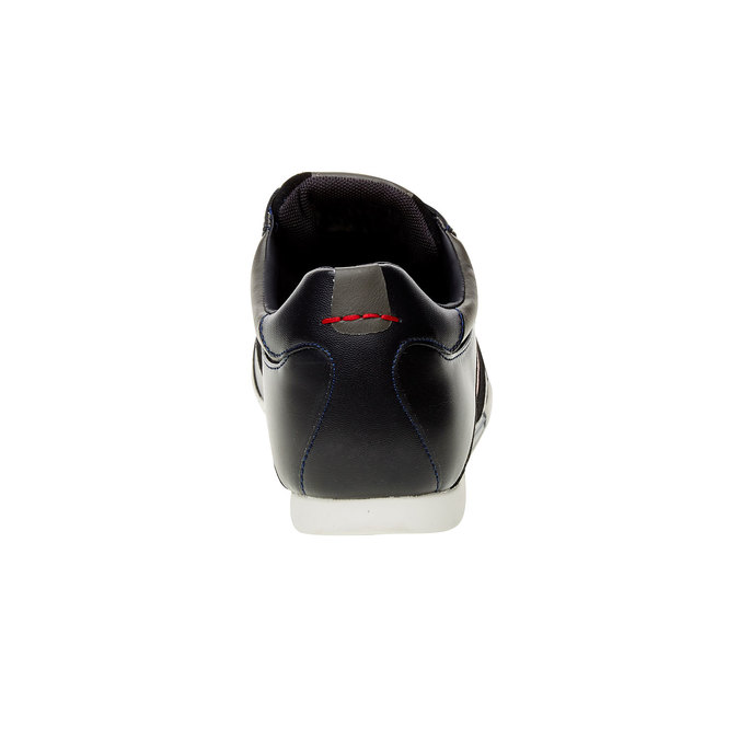 Skórzane buty sportowe na co dzień levis, czarny, niebieski, 844-9260 - 17