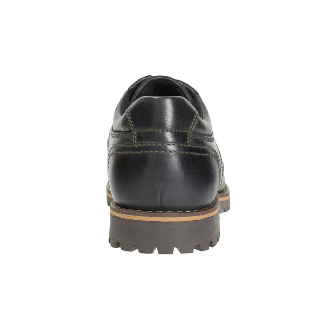 Skórzane półbuty z przeszyciami na nosku bata, brązowy, 826-6640 - 17