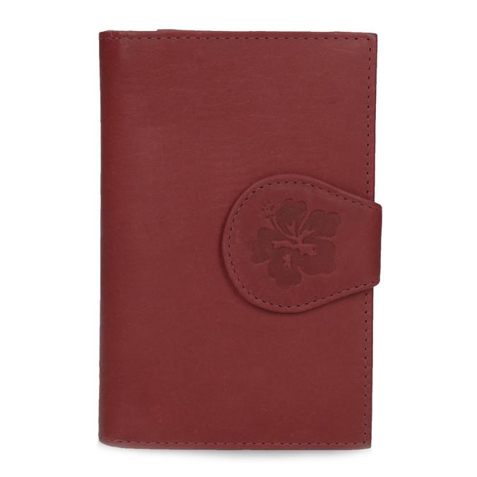Damski skórzany portfel bata, czerwony, 944-5155 - 26