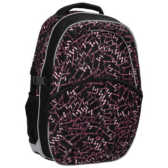 Plecak szkolny z deseniem bagmaster, czarny, 969-6602 - 13