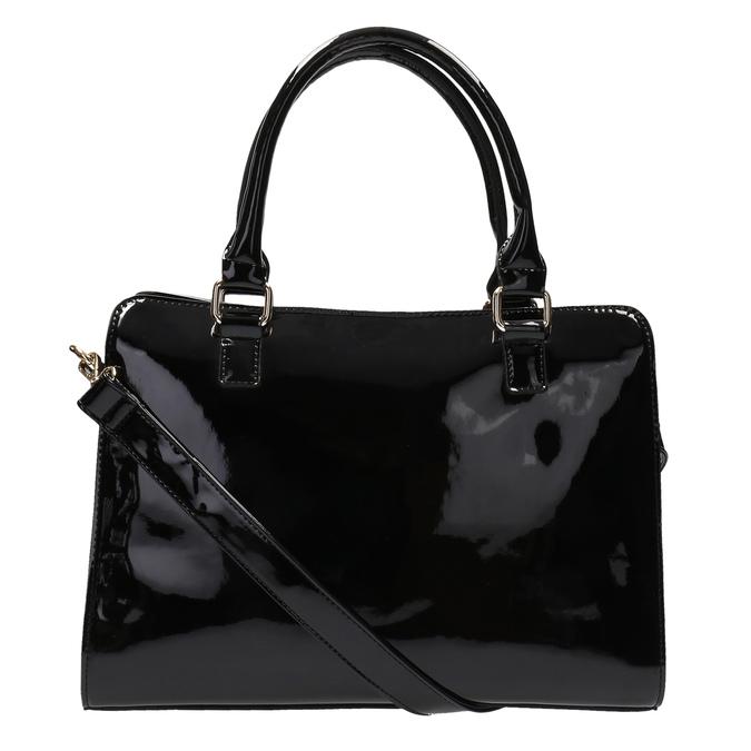 Czarna torebka ze złotymi detalami bata, czarny, 961-6610 - 26
