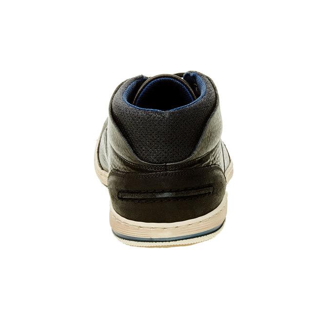 Skórzane buty sportowe do kostki bata, czarny, 844-6620 - 17