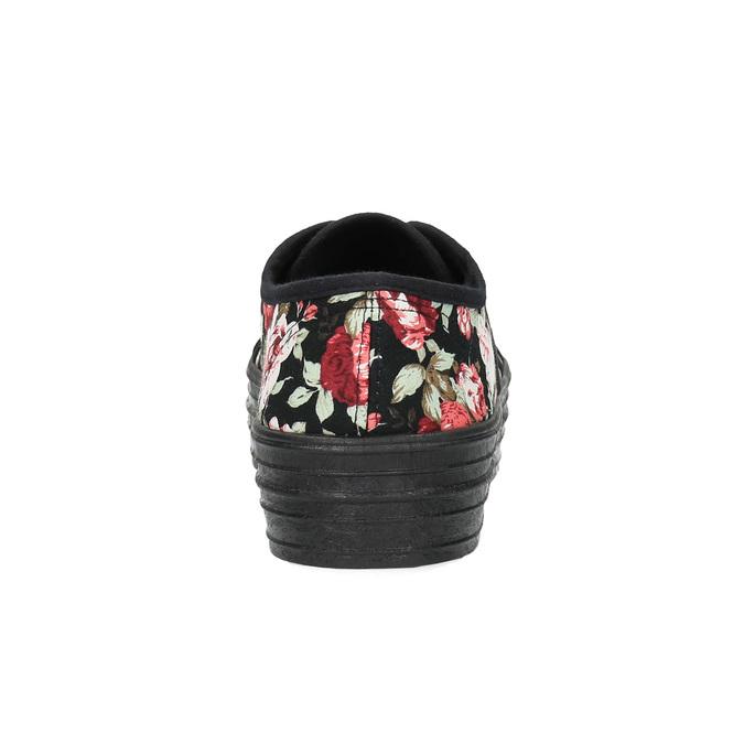 Tenisówki w kwiaty bata, czarny, 529-0630 - 17