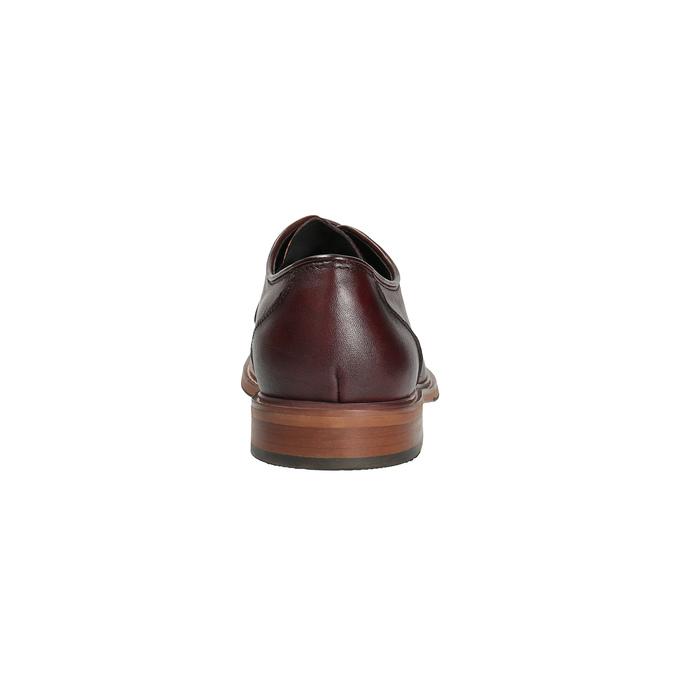 Bordowe skórzane półbuty bata, czerwony, 826-5645 - 17