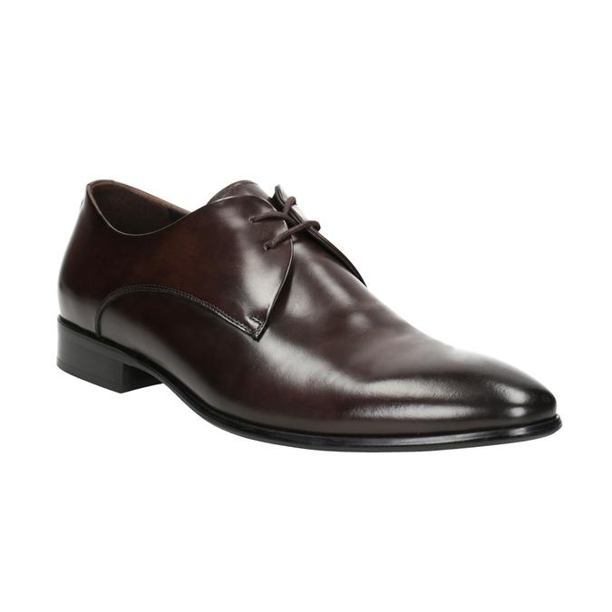 Skórzane półbuty męskie bata, brązowy, 826-4648 - 13