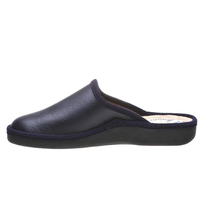 Kapcie męskie zpełnymi noskami bata, niebieski, 871-9304 - 15