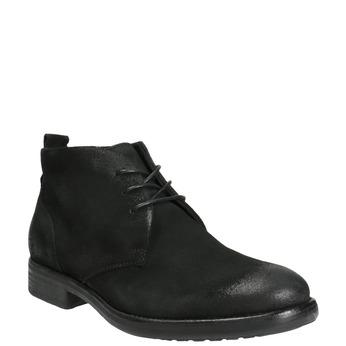 Zamszowe buty za kostkę bata, czarny, 846-9611 - 13