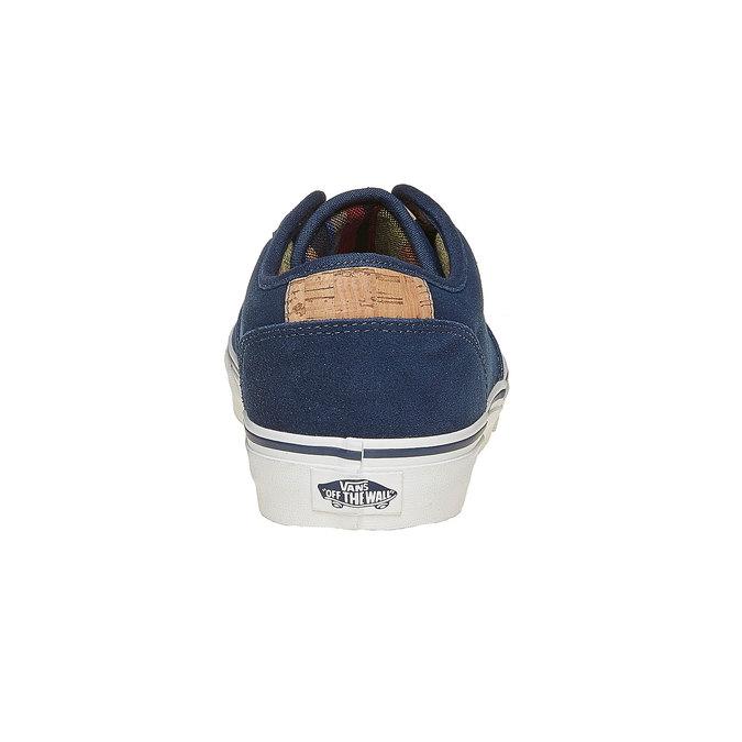 Trampki męskie ze skóry vans, niebieski, 803-9304 - 17
