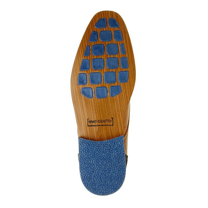 Nieformalne skórzane półbuty za kostkę bata, brązowy, 894-4622 - 26