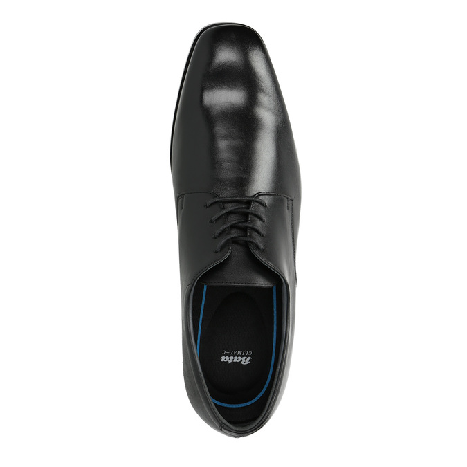 Półbuty męskie ze skóry bata, czarny, 824-6752 - 19