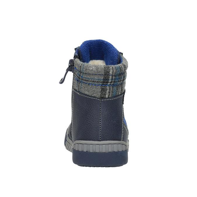 Ocieplane buty dziecięce ze skóry bubblegummer, niebieski, 116-9102 - 17