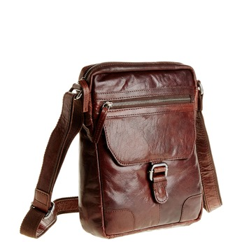 Męska skórzana torba Crossbody bata, brązowy, 964-4180 - 13