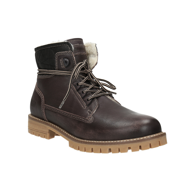 Zimowe skórzane buty damskie weinbrenner, brązowy, 594-4491 - 13