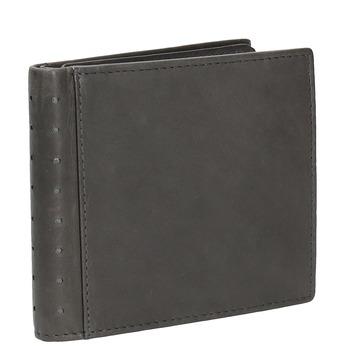 Skórzany portfel zperforacją bata, czarny, 944-6175 - 13