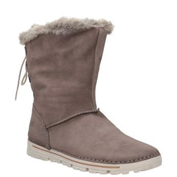 Zimowe buty damskie zfuterkiem weinbrenner, brązowy, 596-4334 - 13
