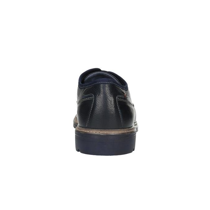 Skórzane niebieskie półbuty w swobodnym stylu bata, niebieski, 824-9699 - 17