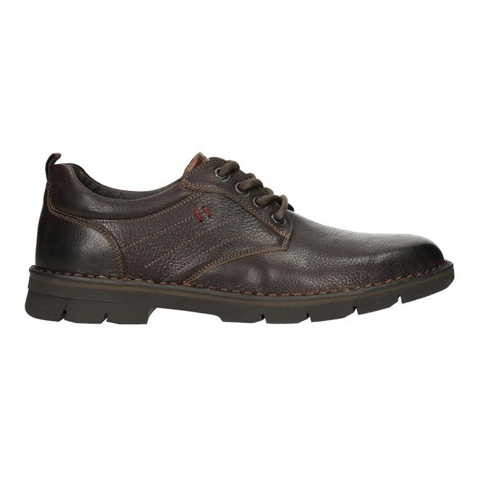 Skórzane półbuty w swobodnym stylu na wyrazistej podeszwie bata, brązowy, 824-4698 - 15
