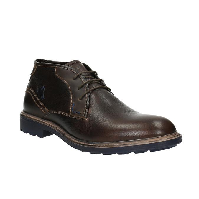 Skórzane buty w stylu Chukka Boots bata, brązowy, 824-4701 - 13