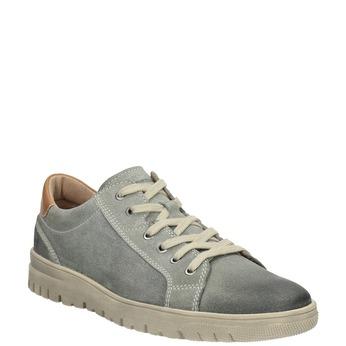 Męskie skórzane buty sportowe weinbrenner, szary, 843-2620 - 13