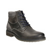 Skórzane buty do kostki bata, szary, 894-2643 - 13