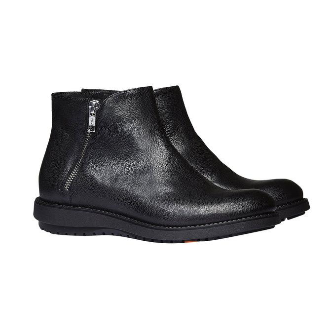 Skórzane botki flexible, czarny, 594-6227 - 26