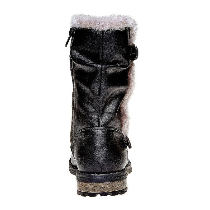 Dziecięce zimowe kozaki mini-b, czarny, 391-6245 - 17
