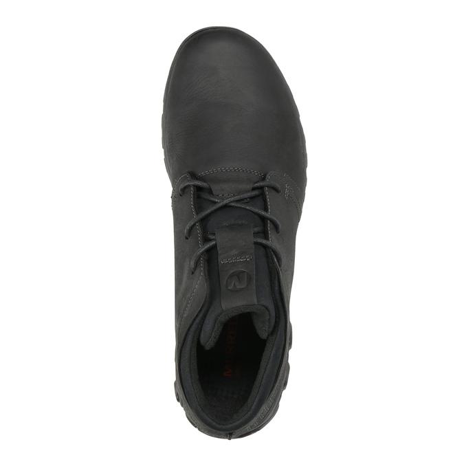 Skórzane trampki męskie merrell, czarny, 806-6836 - 19