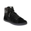 Skórzane buty sportowe do kostki ze srebrnymi refleksami bata, czarny, 596-6613 - 13