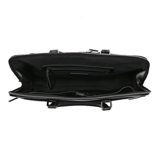 Elegancka torebka do noszenia w ręce bata, czarny, 961-6882 - 15