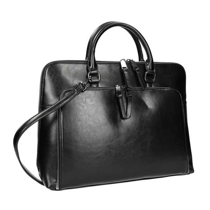 Elegancka torebka do noszenia w ręce bata, czarny, 961-6882 - 13