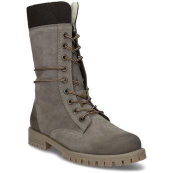 Zimowe sznurowane buty damskie weinbrenner, szary, 593-2476 - 13