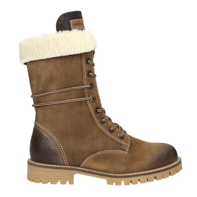 Zimowe buty damskie zfuterkiem weinbrenner, brązowy, 593-8476 - 26