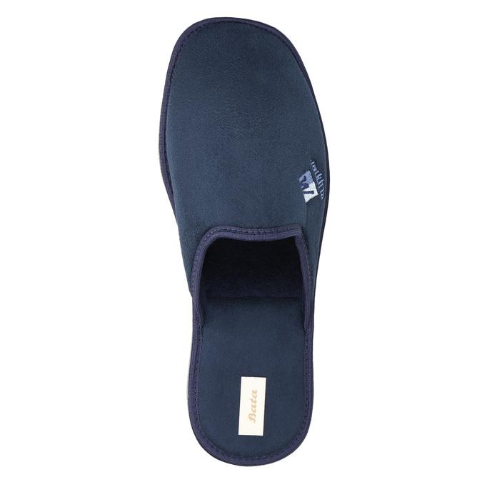 Kapcie męskie zpełnymi noskami bata, niebieski, 879-9605 - 19