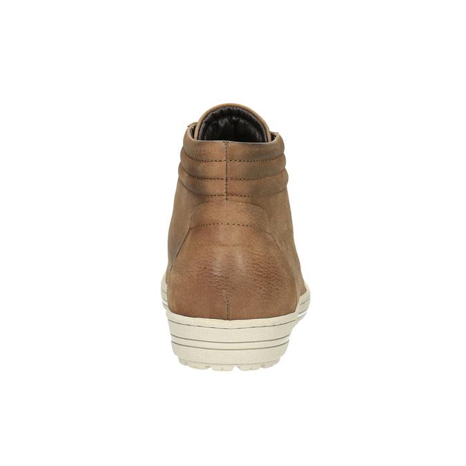 Trampki damskie za kostkę bata, brązowy, 594-8659 - 17