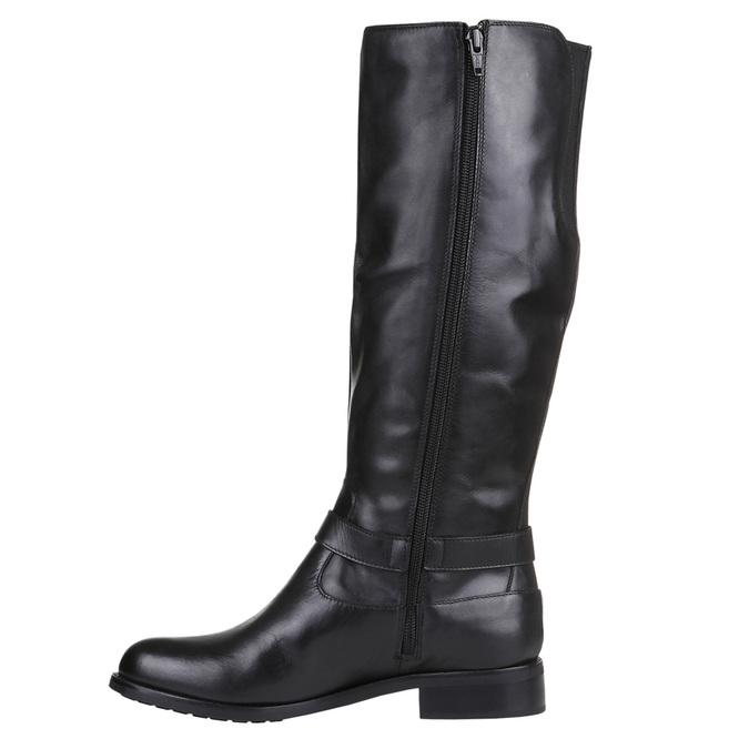 Trampki damskie za kostkę bata, czarny, 594-6659 - 15