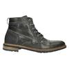 Skórzane buty męskie za kostkę bata, szary, 894-2621 - 15
