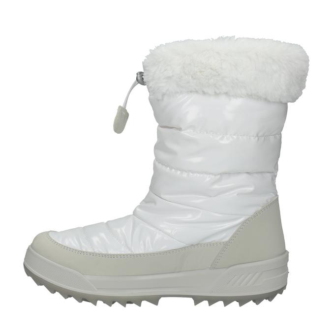Białe śniegowce damskie zfuterkiem weinbrenner, biały, 591-1617 - 19
